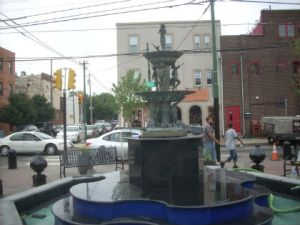 The Singing Fountain along Passyunk Avenue will soon be rededicated after renovations. (Credit: John Ostapkovich)