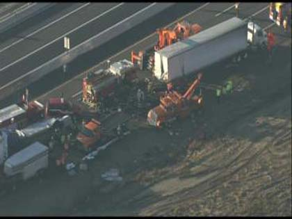 Horse Trailer Involved In Multi-Vehicle Crash On The New
