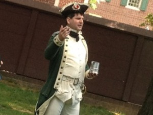 Doug Thomas is an interpreter for historic philadelphia. He leads the tipplers tour. (Credit: John McDevitt)