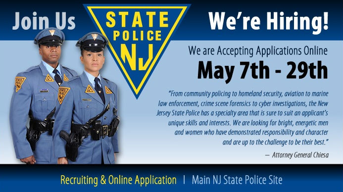 """New Jersey State Police Hang Out The """"We're Hiring"""" Sign"""