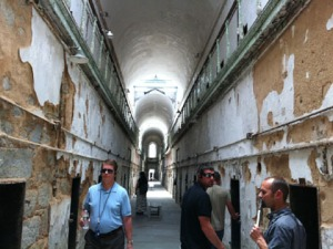 Inside the halls of Eastern State Penitentiary. (Credit: Hadas Kuznits)