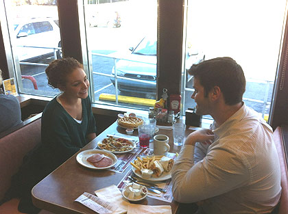 """(Customers at the Llanerch Diner enjoy what has come to be known as the """"Bradley Cooper booth.""""  Credit: John McDevitt)"""