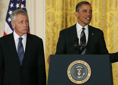President Obama and Chuck Hagel (Photo by Mark Wilson/Getty Images)