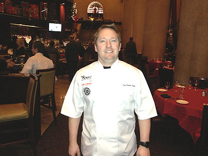 (Shawn Quinn, regional chef at Del Frisco's, 15th and Chestnut Streets in center city Philadelphia.  Credit: Hadas Kuznits)
