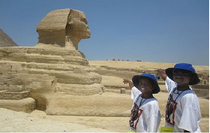 (Students visit the Sphinx. Photo provided)