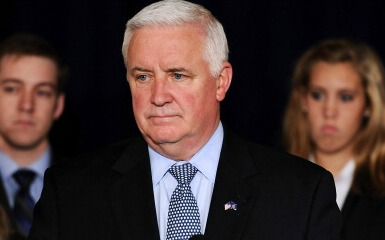 Tom Corbett (Photo by Patrick Smith/Getty Images)