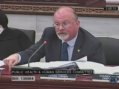 (Councilman Bill Greenlee.  Image from City of Phila. TV)