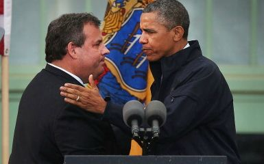 Chris Christie and Barack Obama (Photo by Spencer Platt/Getty Images)