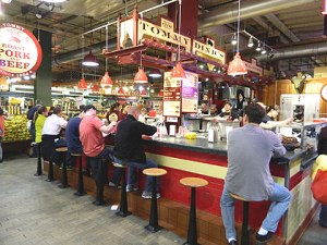(Tommy DiNic's sandwich stand in the Reading Terminal Market. Credit: Jay Lloyd)