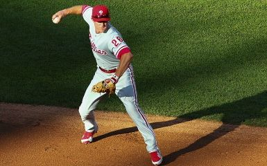 Chase Utley (Photo by Dilip Vishwanat/Getty Images)