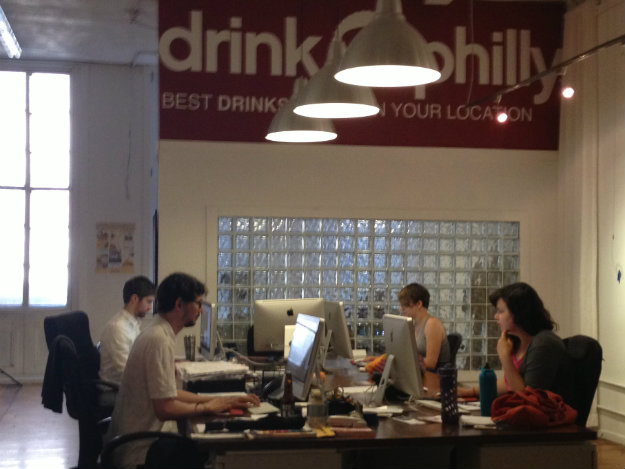 DrinkNation employees working in the Old City office (credit: Paul Kurtz)