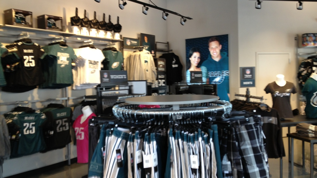 release date: 17f30 a7f51 New Eagles Pro Shop In NJ Opens Doors – CBS Philly