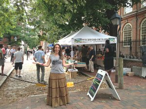 (Ahava Zarembski, founder of the N3RD St. Farmer's Market, outside Christ Church.  Photo provided)