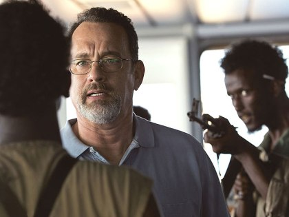 "(Tom Hanks stars as a hijacked cargo ship captain in ""Captain Phillips."")"