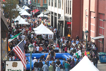 (File photo of crowds at the 2012 Midtown Village Fall Festival.  Photo provided)