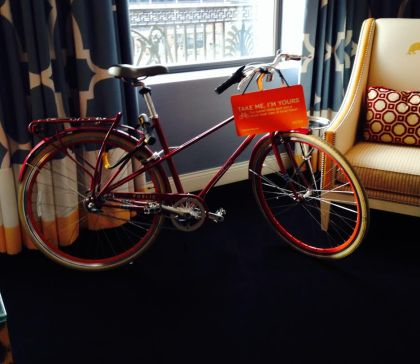 Bikes are free to use at Hotel Monaco. (Credit: Melony Roy)