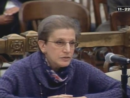 (Philadelphia chief integrity officer Joan Markman testifies before City Council's Law and Goverment Committee.  Image from City of Phila. TV)