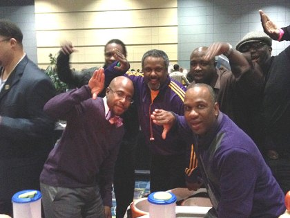 """(Participants having some fun at last year's """"Philly's Men Are Cooking.""""  Photo provided by Shariah-Dixon Turner)"""