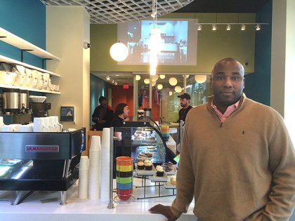 (Keith Leaphart at the  Creative Café at Replica, in West Philadelphia.  Photo provided)