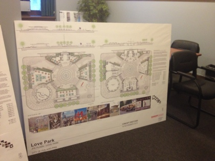 Detailed plans of Clarke's proposal (credit: Mike Dunn)
