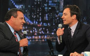 Jimmy Fallon and Chris Christie (Photo by Theo Wargo/Getty Images)