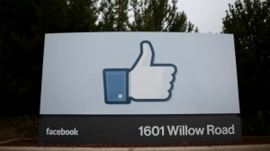 MENLO PARK, CA - FEBRUARY 01: A sign with the 'like' symbol stands in front of the Facebook headquarters on February 1, 2012 in Menlo Park, California.  (Credit: Justin Sullivan/Getty Images)