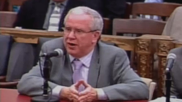 Vince Fennerty, executive director of the Philadelphia Parking Authority.   Image from City of Phila. TV)