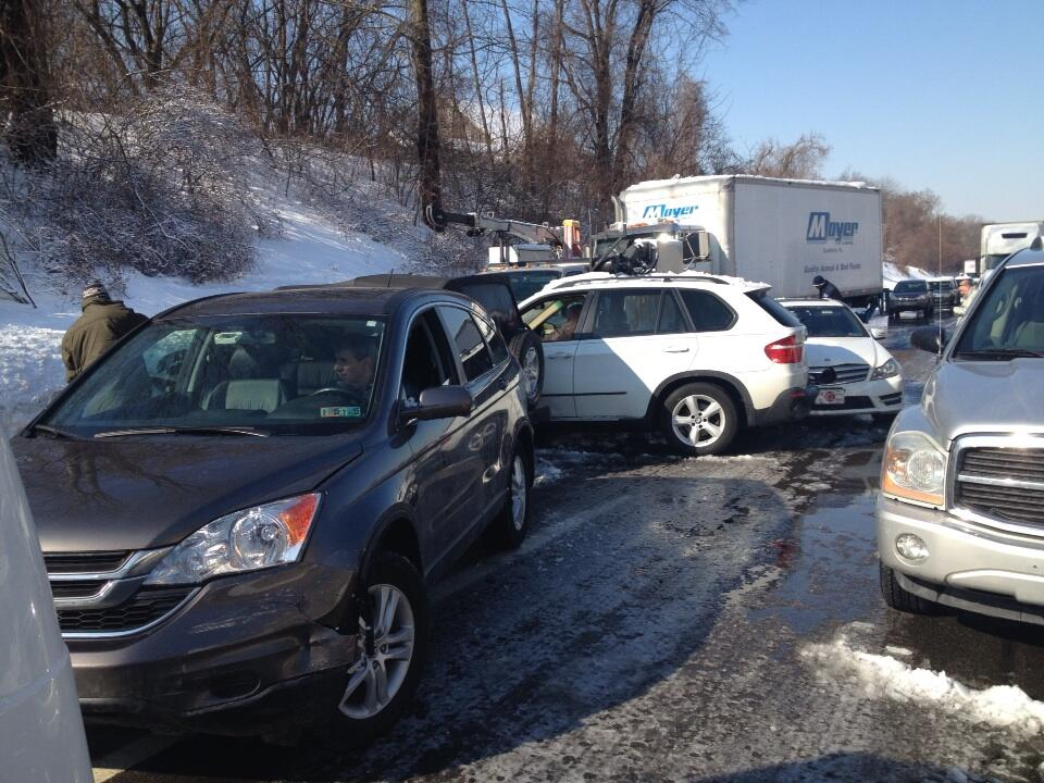 UPDATE: Pa  Turnpike Reopened After Massive Crash, All-Day