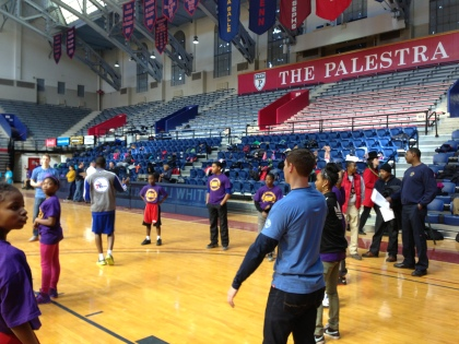 The first annual Police Athletic League Basketball Carnival at the Palestra. (Credit: Mike DeNardo)
