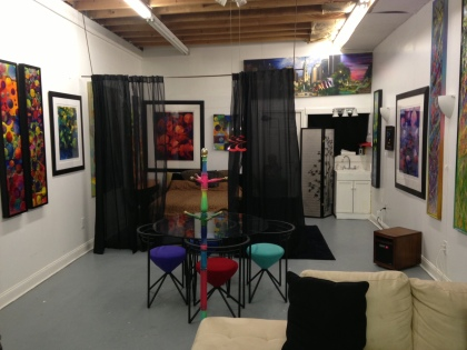 One of the apartments in hJames Dupree's studios that he rents to artists and others from around the world. (Credit: Cherri Gregg)