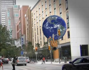 Artist rendering of proposed globe at 12th and Arch. (photo provided)