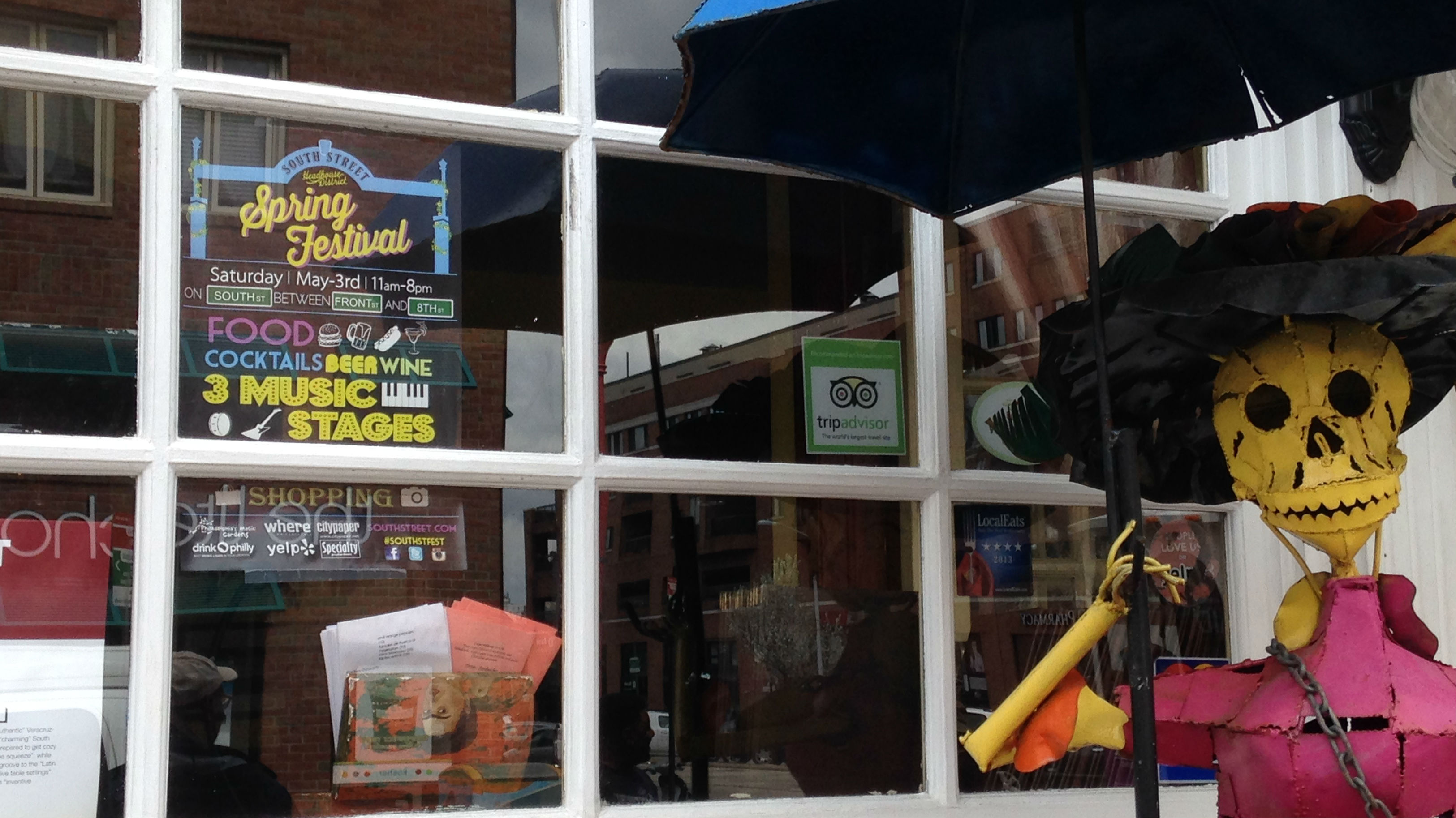 Stores along South Street are gearing up for the Spring Festival (Credit: Andrew Kramer)