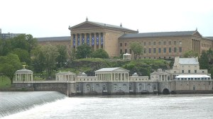 (The Philadelphia Museum of Art, top, and the Fairmount Water Works, in 2009 file photo by KYW's John Ostapkovich)