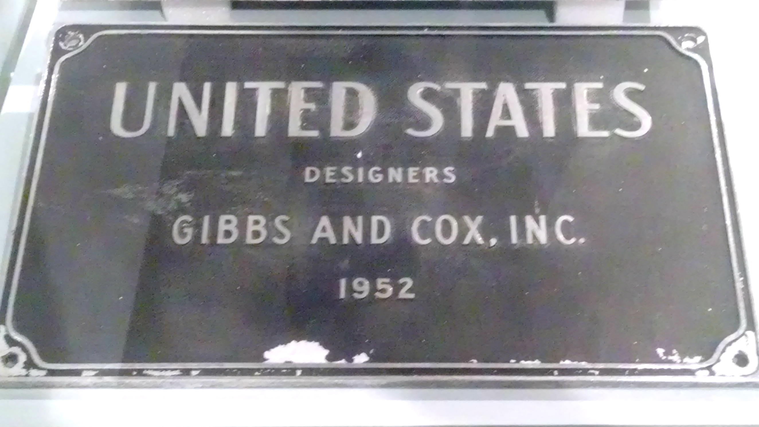 The SS United States building plaque. (Credit: Tom Rickert)