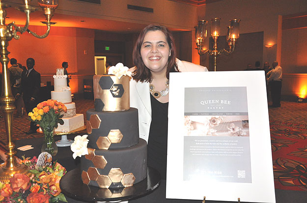 (Nic Endrikat, owner of Queen Bee Pastry, at a launch event for her new enterprise last month.  Photo by Hadas Kuznits)
