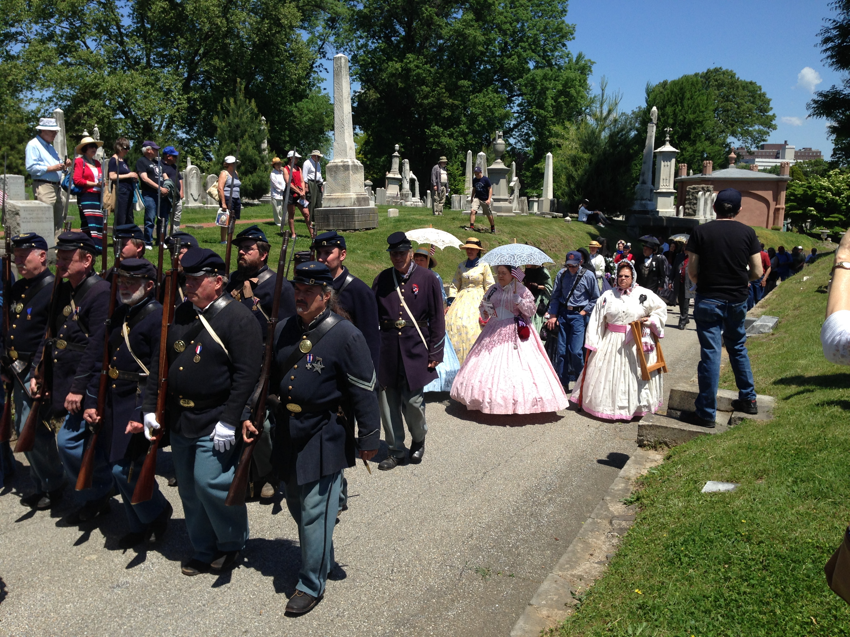 Memorial Day Ceremony at Laurel Hill Cemetery. (Credit: Molly Daly)