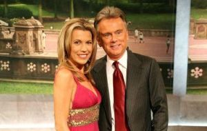 Vanna White and Pat Sajak (Photo by Astrid Stawiarz/Getty Images)