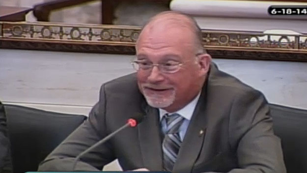 Councilman Bill Greenlee.  Image from City of Phila. TV)