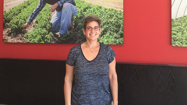"""(Deb Lutz at her new """"B. Good"""" restaurant.  Photo provided)"""