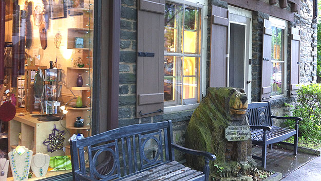(The Artisan Exchange, one of many quaint shops along Main Street in Milford, Pa.   Photo by Jay Lloyd)