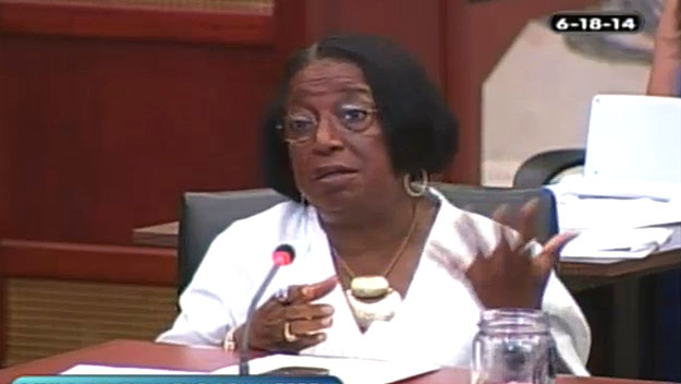 Councilwoman Marian Tasco.  Image from City of Phila. TV)