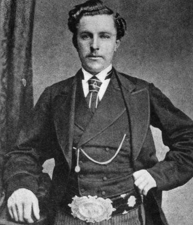 Scottish golfer 'Young' Tom Morris (1851 - 1875) wearing the British Open belt which he won four times.   (credit: James Hardie/Hulton Archive/Getty Images)