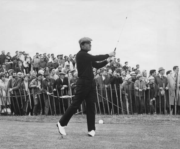 South African golfer Gary Player on the 18th and final hole during the Open Golf Championship at Carnoustie, Scotland, 14th July 1968. (credit: Cowper/Central Press/Hulton Archive/Getty Images)