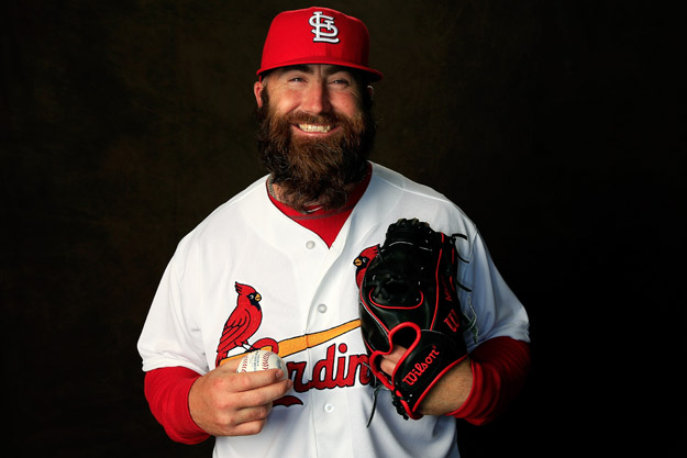 JUPITER, FL - FEBRUARY 24:  Pitcher Jason Motte #30 of the St. Louis Cardinals poses for a portrait during photo day at Roger Dean Stadium on February 24, 2014 in Jupiter, Florida.