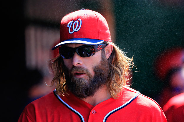 WASHINGTON, DC - JULY 05: Jayson Werth #28 of the Washington Nationals walks in the dugout before the start of their game against the Chicago Cubs at Nationals Park on July 5, 2014 in Washington, DC.