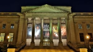 The Franklin Institute after dark. (Credit: The Franklin Institute)
