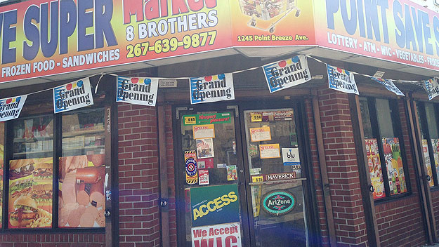 (8 Brothers Market, in Point Breeze, says it has stopped selling airsoft toy guns.  Photo by Cherri Gregg)