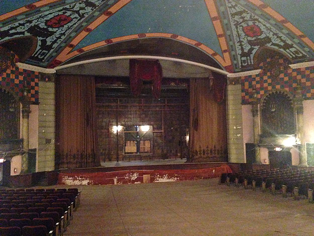 (The interior of the Lansdowne Theater shows a need for work.  Photo by Cherri Gregg)