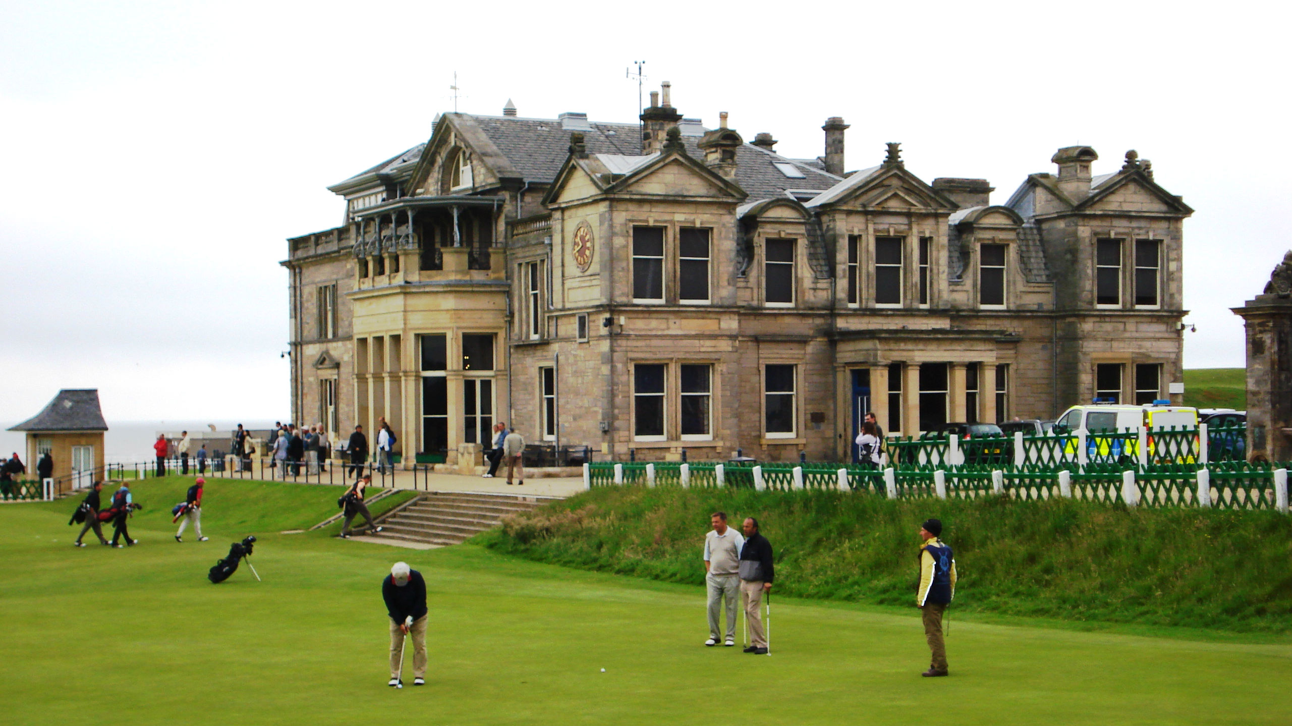 The Royal and Ancient Golf Society and the Old Course (the birthplace of golf). (Credit: Jay Lloyd)