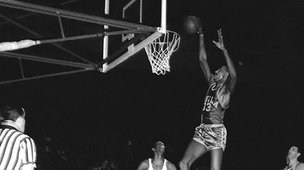(Wilt Chamberlain, in 1961 file photo.  Copyright 1961, NBAE.  Photo by The Stevenson Collection/ NBAE via Getty Images)